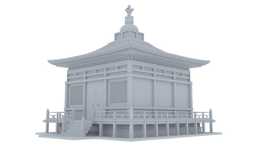 Japanska templet royalty-free 3d model - Preview no. 2