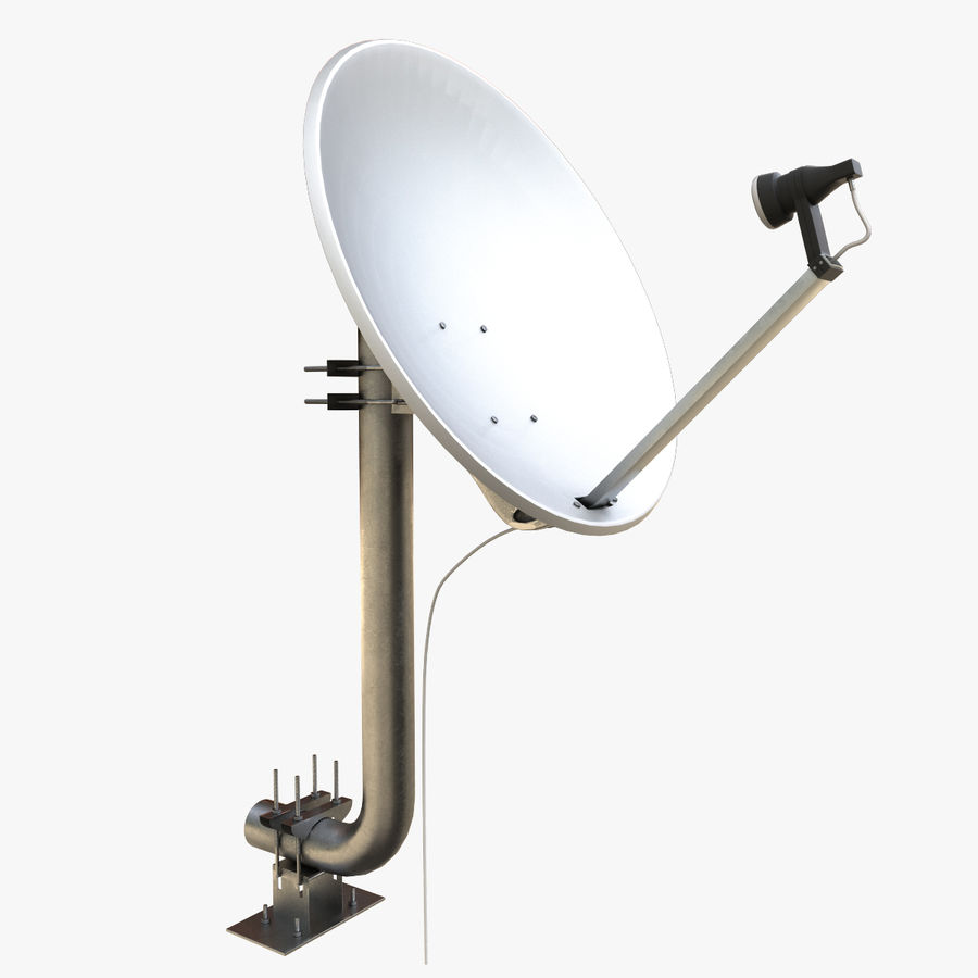 Antena parabólica royalty-free modelo 3d - Preview no. 1