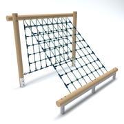 Filet de jeu en bois 3d model