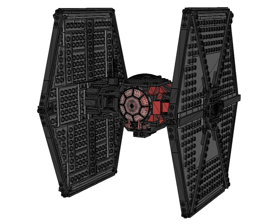 Lego First Order Special Forces TIE fighter royalty-free 3d model - Preview no. 7