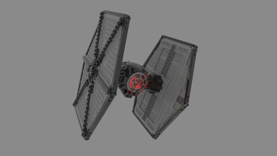 Lego First Order Special Forces TIE fighter royalty-free 3d model - Preview no. 6