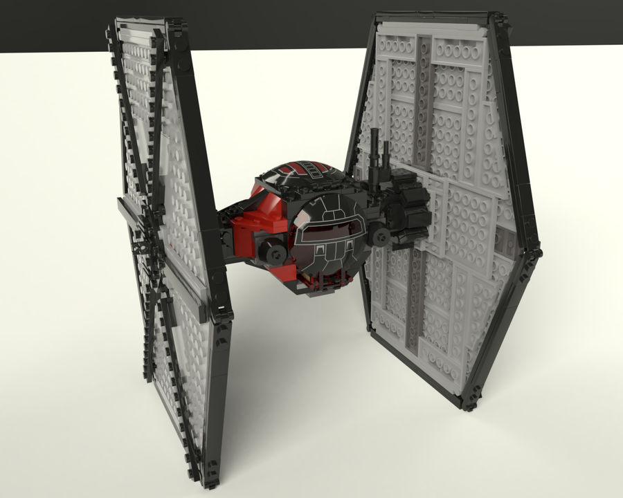 Lego First Order Special Forces TIE fighter royalty-free 3d model - Preview no. 4