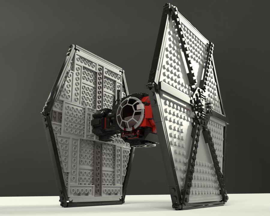 Lego First Order Special Forces TIE fighter royalty-free 3d model - Preview no. 3