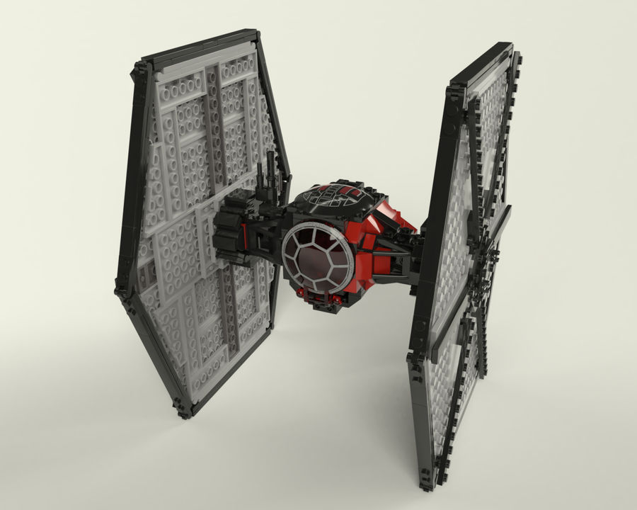 Lego First Order Special Forces TIE fighter royalty-free 3d model - Preview no. 1