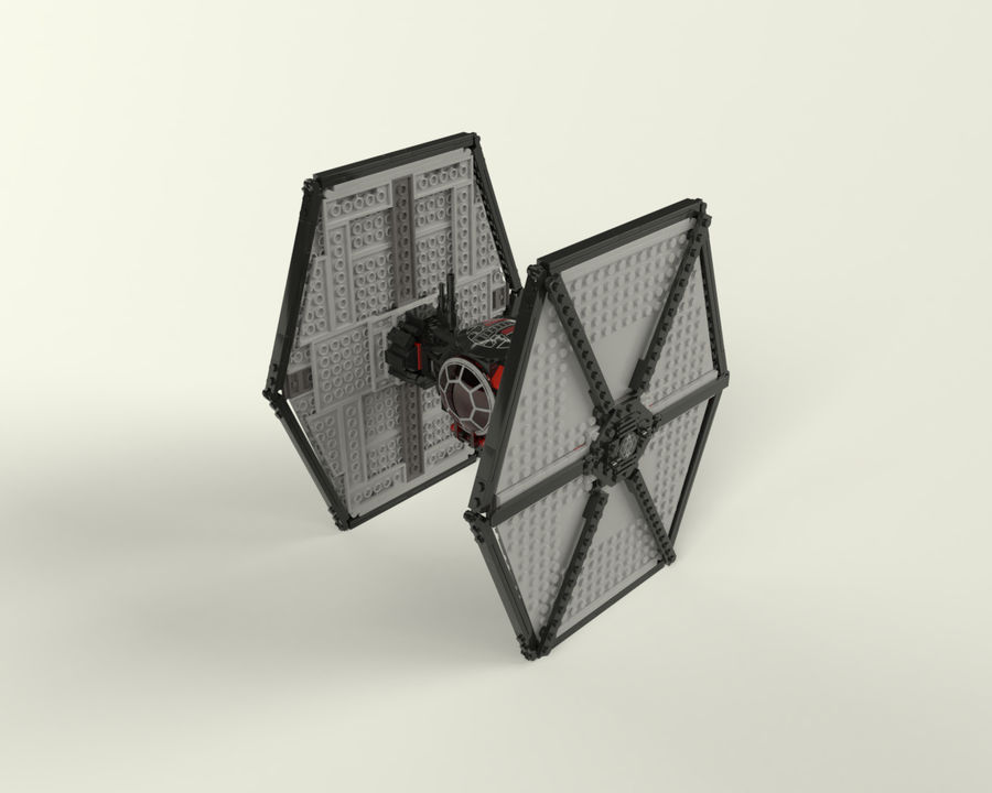 Lego First Order Special Forces TIE fighter royalty-free 3d model - Preview no. 2