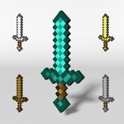 Épée Minecraft 3d model