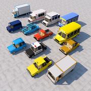 Pacote de carro dos desenhos animados 3d model