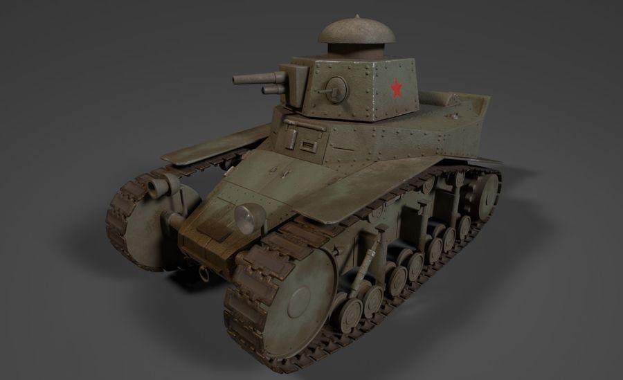 URSS Tank MS-1 ou T-18 royalty-free 3d model - Preview no. 2