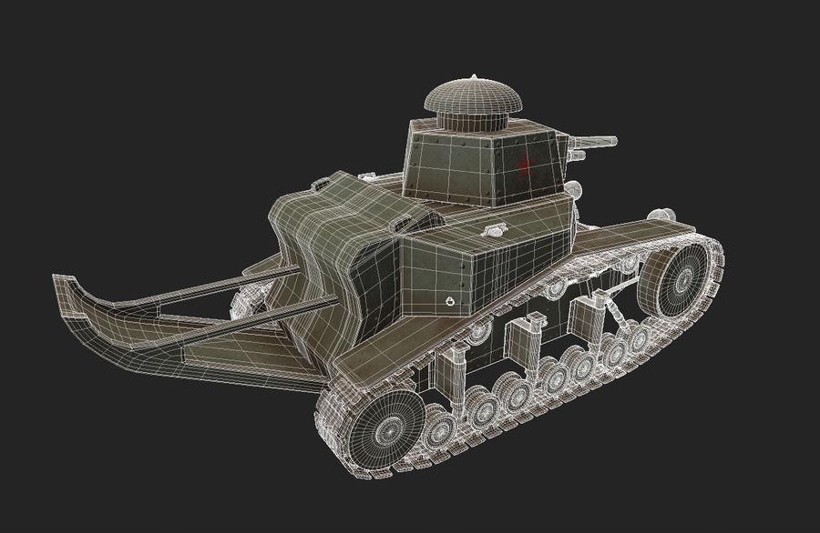 URSS Tank MS-1 ou T-18 royalty-free 3d model - Preview no. 8