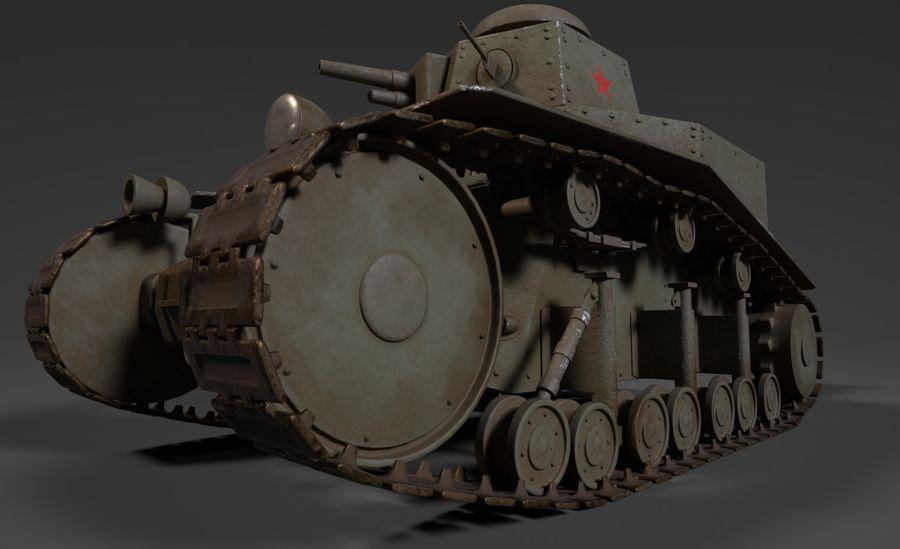 URSS Tank MS-1 ou T-18 royalty-free 3d model - Preview no. 6