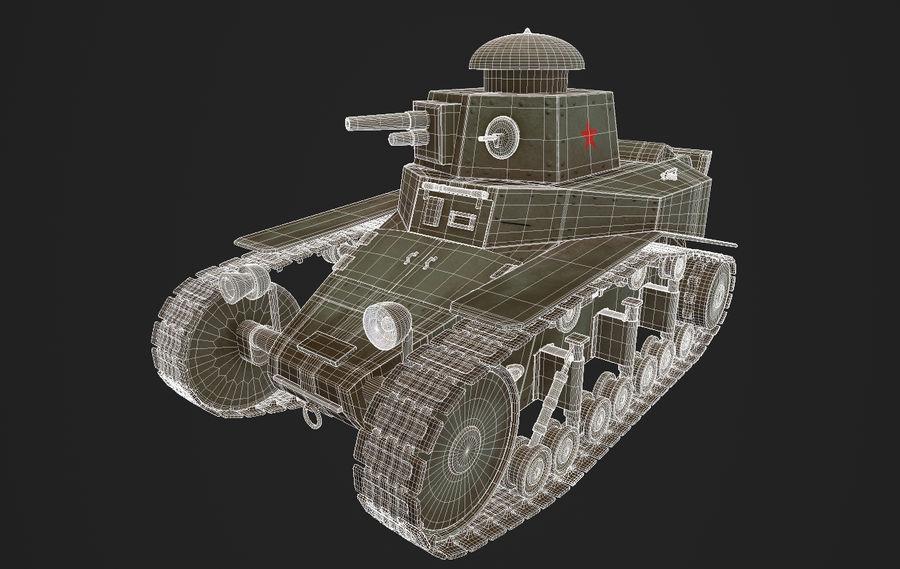 URSS Tank MS-1 ou T-18 royalty-free 3d model - Preview no. 7