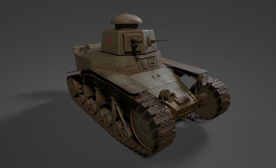 URSS Tank MS-1 ou T-18 royalty-free 3d model - Preview no. 3