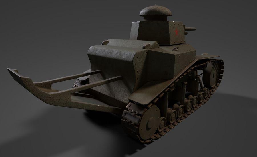 URSS Tank MS-1 ou T-18 royalty-free 3d model - Preview no. 5