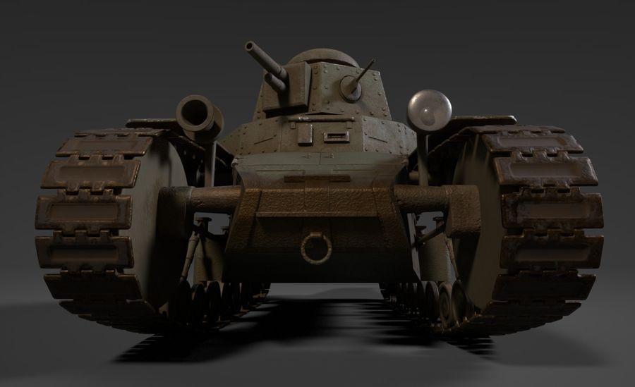 URSS Tank MS-1 ou T-18 royalty-free 3d model - Preview no. 1