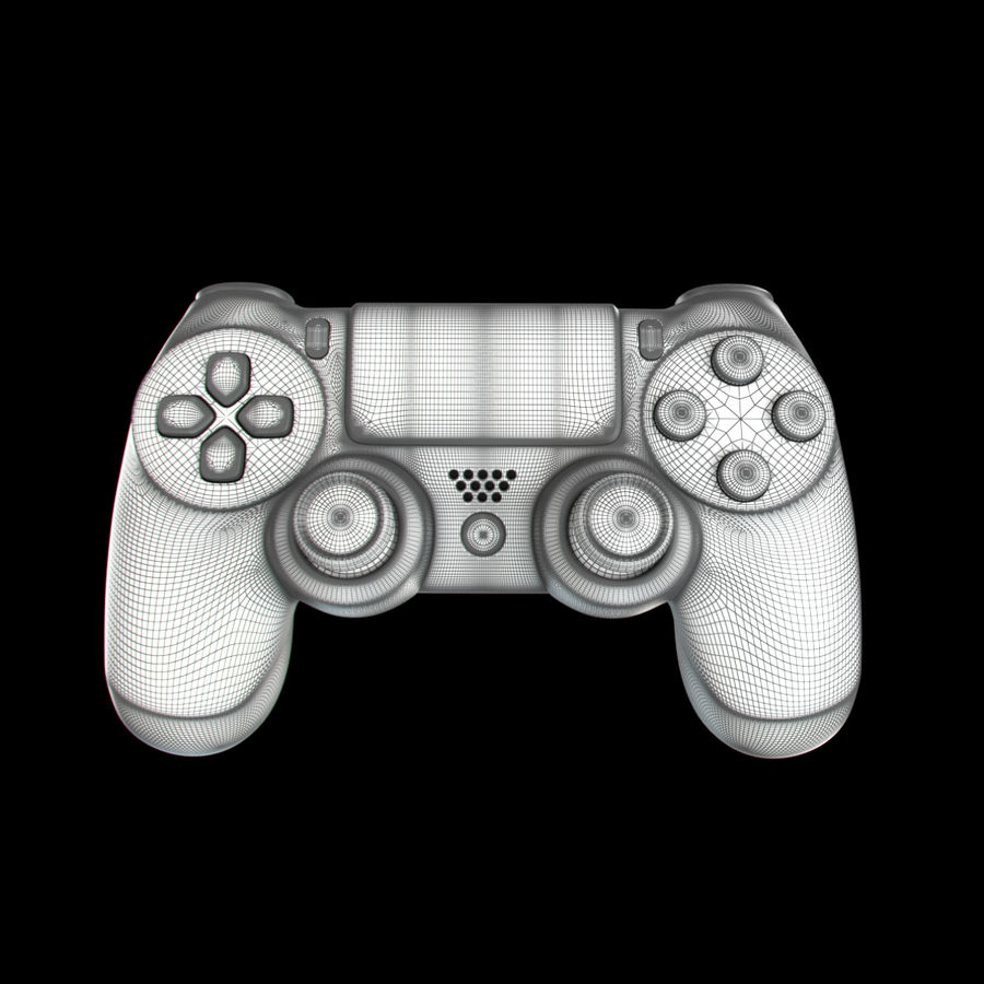 Joystick - Controller - PS4 royalty-free 3d model - Preview no. 11
