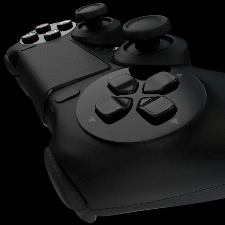 Joystick - Controller - PS4 royalty-free 3d model - Preview no. 9