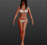 Rigged Nude Girl 3d model