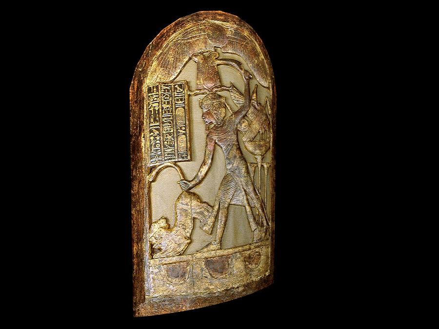 King Tutankhamun Shield royalty-free 3d model - Preview no. 1
