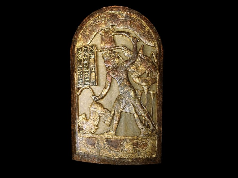 King Tutankhamun Shield royalty-free 3d model - Preview no. 2