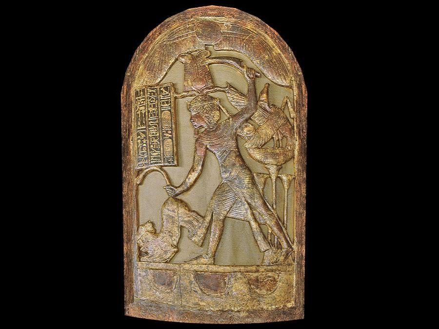 King Tutankhamun Shield royalty-free 3d model - Preview no. 3