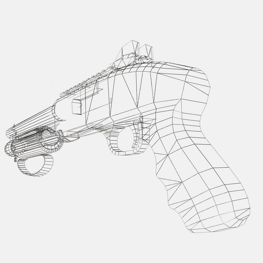 Assault Shotgun royalty-free 3d model - Preview no. 7