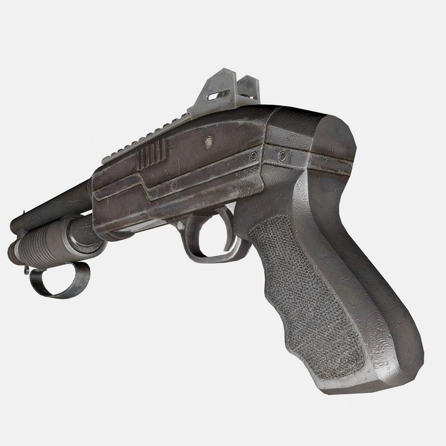 Assault Shotgun royalty-free 3d model - Preview no. 6