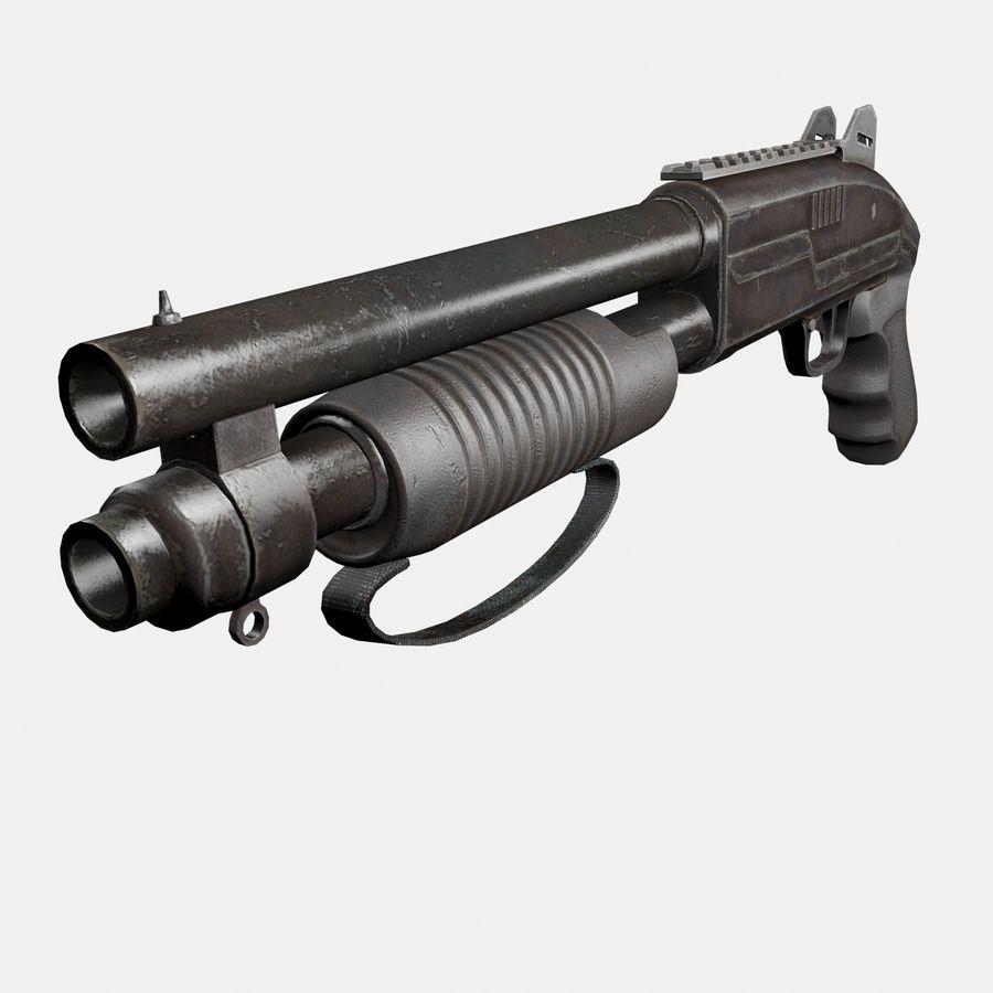 Assault Shotgun royalty-free 3d model - Preview no. 2