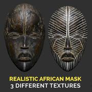 Realistic Dan African Mask 3d model