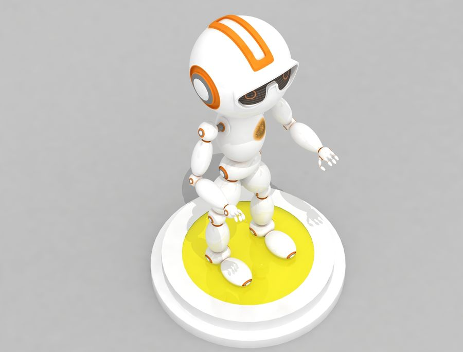 Sci-Fi Robot Character royalty-free 3d model - Preview no. 3