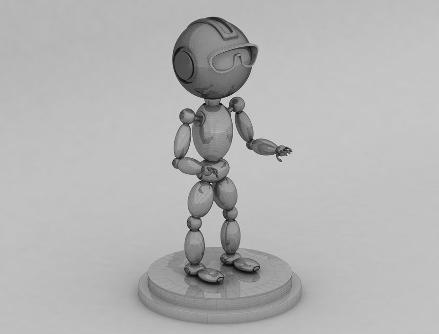Sci-Fi Robot Character royalty-free 3d model - Preview no. 6
