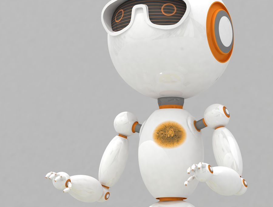 Sci-Fi Robot Character royalty-free 3d model - Preview no. 4