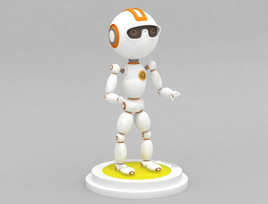 Sci-Fi Robot Character royalty-free 3d model - Preview no. 1