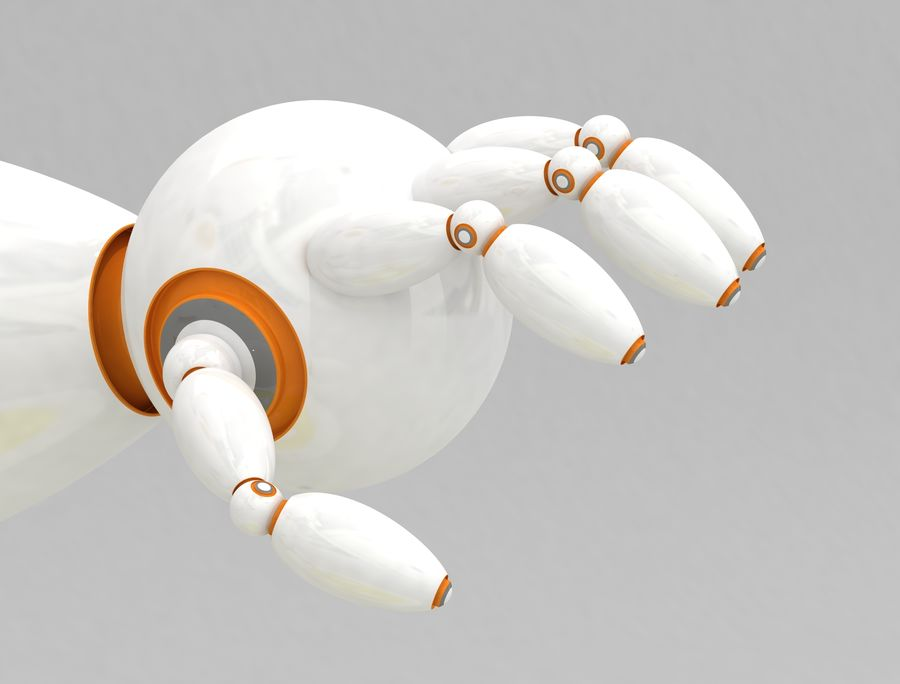 Sci-Fi Robot Character royalty-free 3d model - Preview no. 5