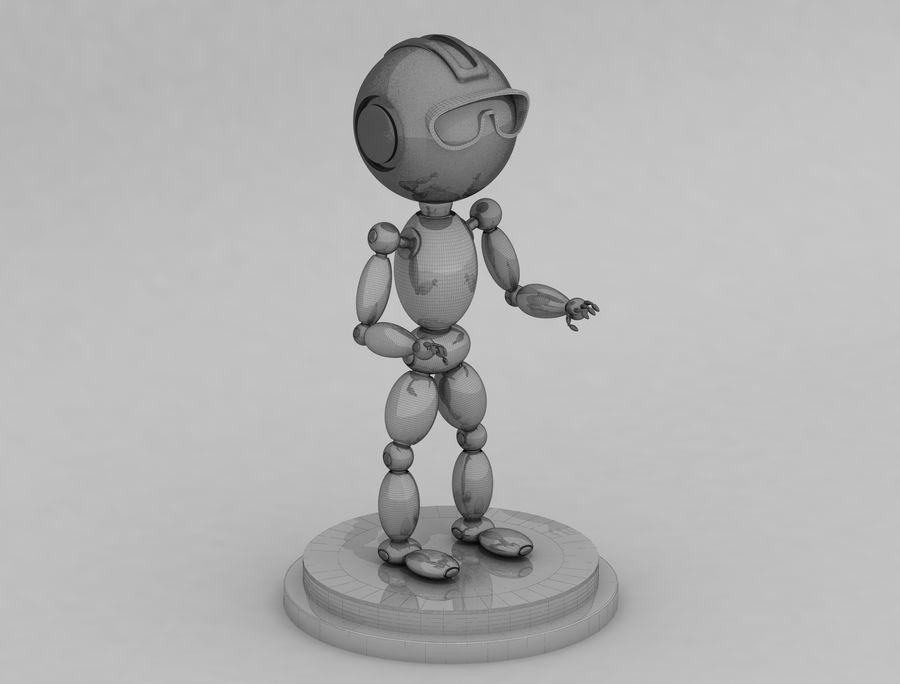 科幻机器人角色 royalty-free 3d model - Preview no. 6