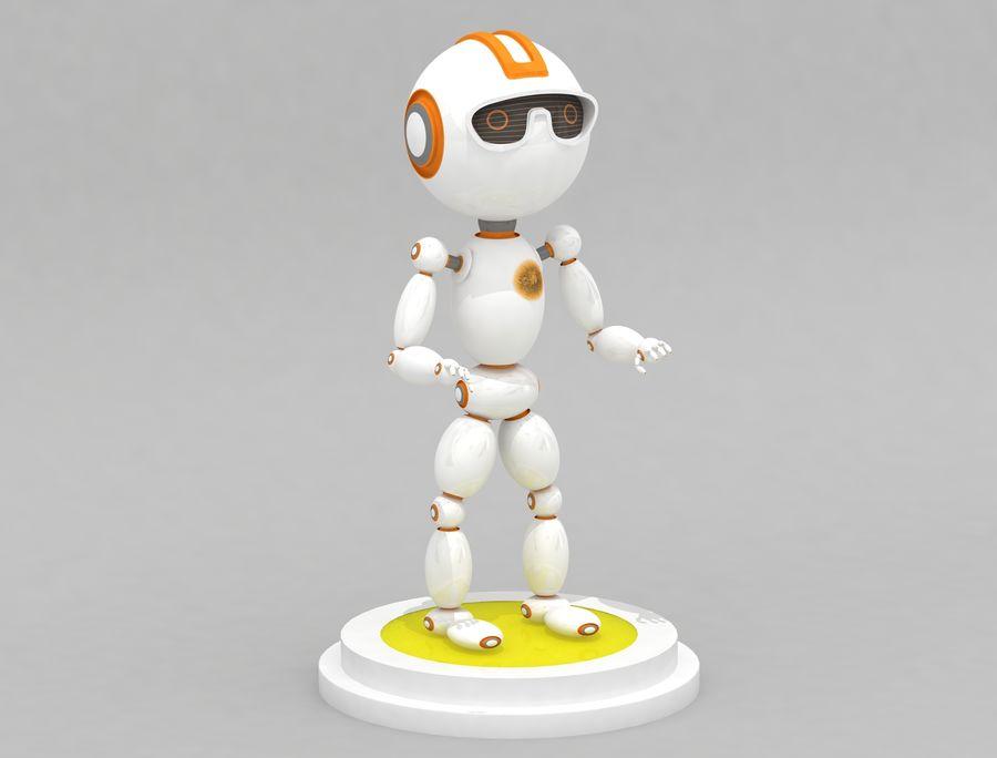 科幻机器人角色 royalty-free 3d model - Preview no. 1