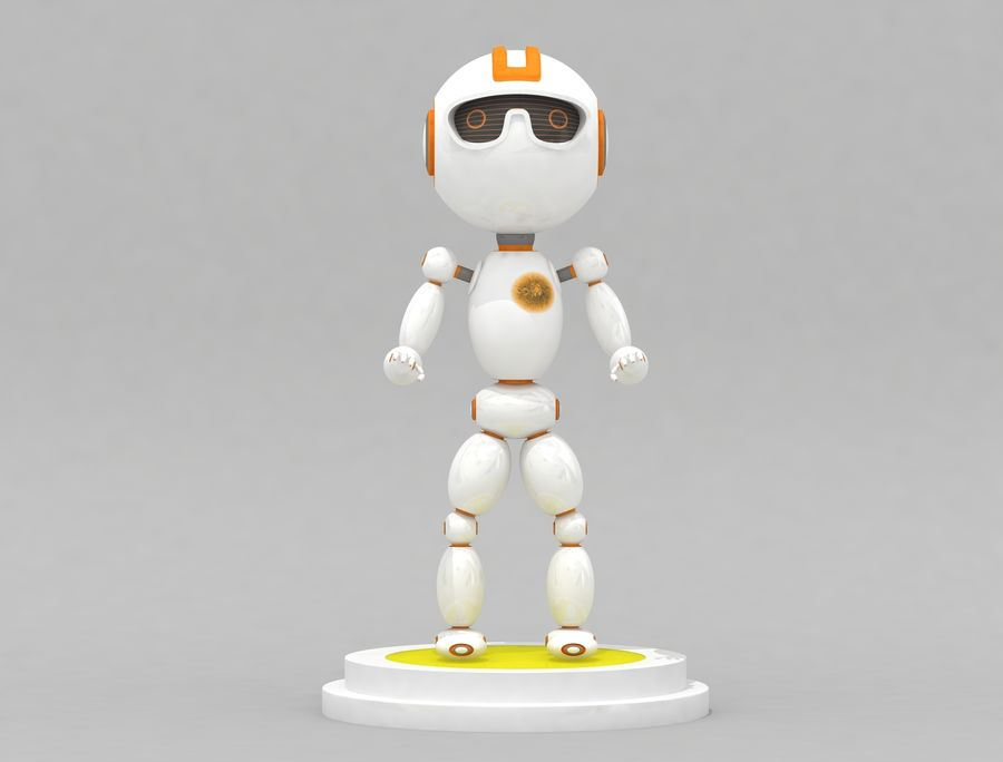 Sci-Fi Robot Character royalty-free 3d model - Preview no. 2