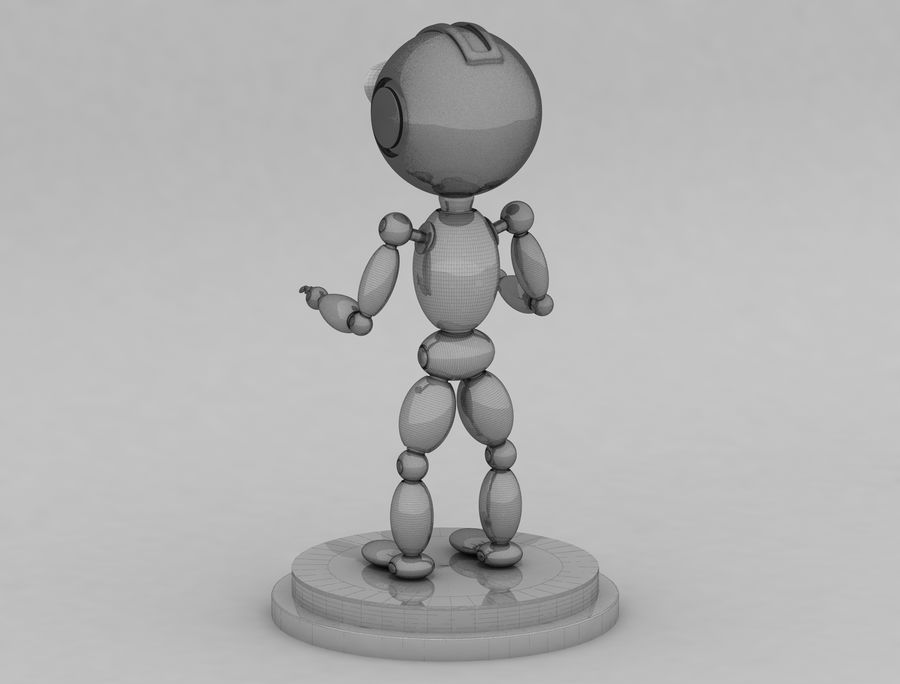 Sci-Fi Robot Character royalty-free 3d model - Preview no. 7