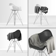 Eames Barkruk van kunststof met lange poten DAR (Eames Eiffel barkruk) met dekendoek 3d model