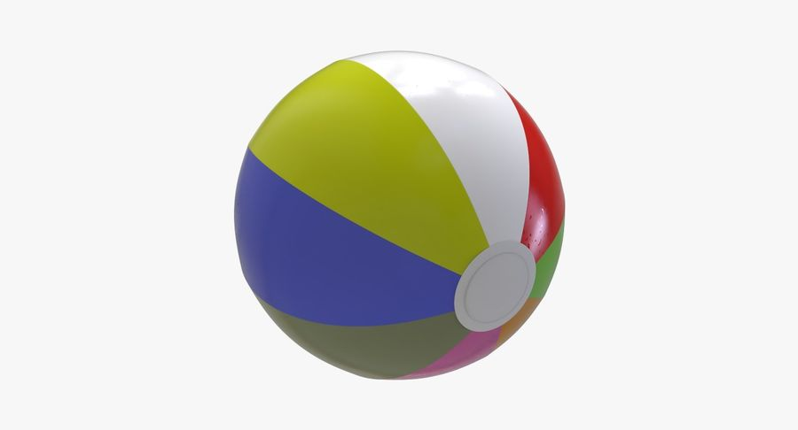 BeachBall Colors royalty-free 3d model - Preview no. 6
