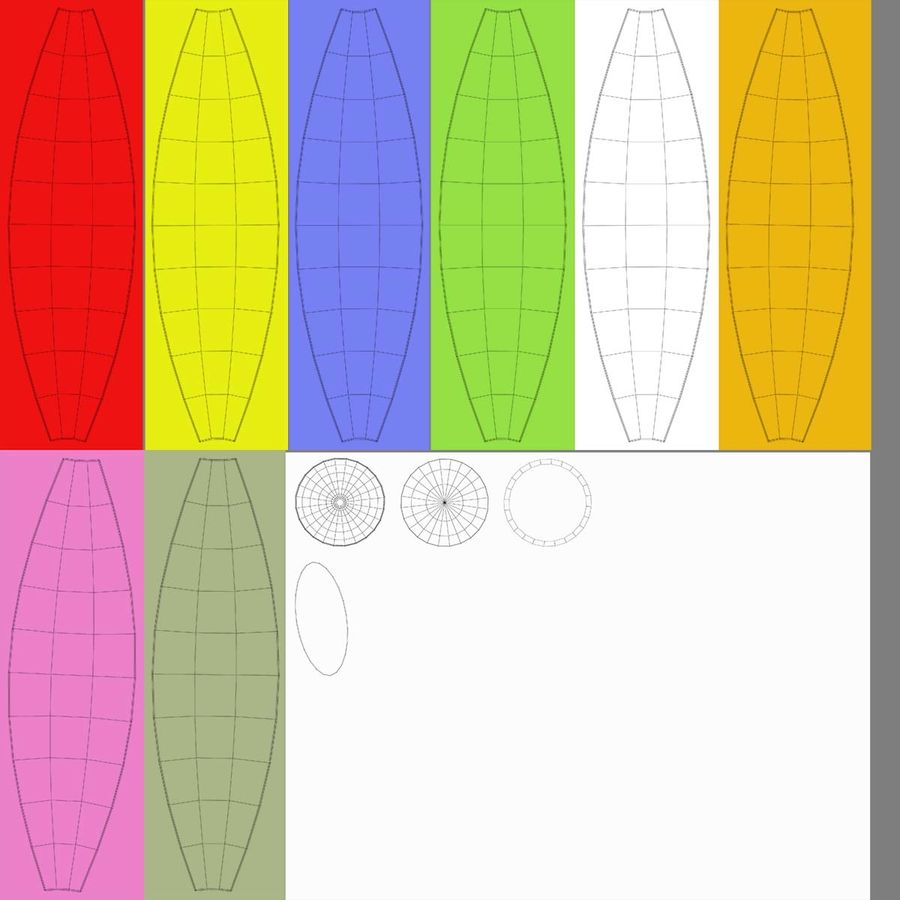 BeachBall Colors royalty-free 3d model - Preview no. 11