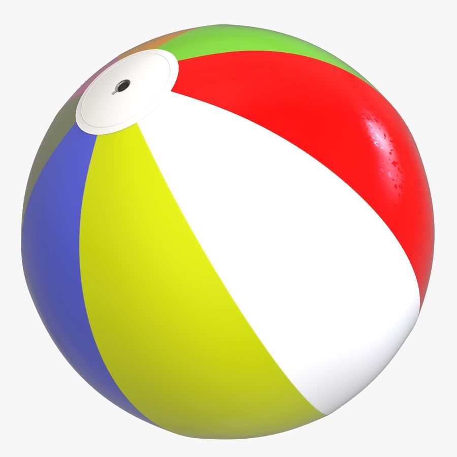 BeachBall Colors royalty-free 3d model - Preview no. 1