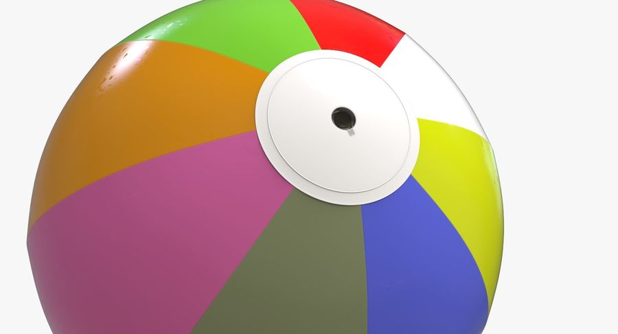 BeachBall Colors royalty-free 3d model - Preview no. 7