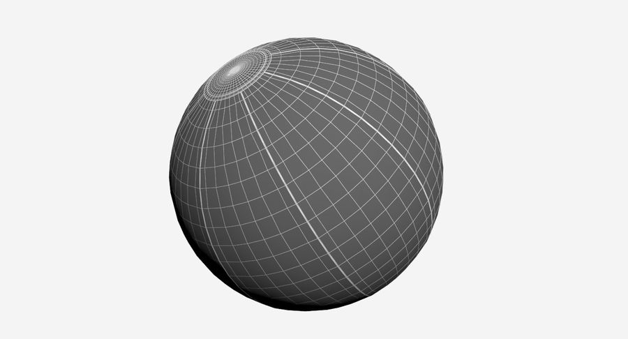BeachBall Colors royalty-free 3d model - Preview no. 9