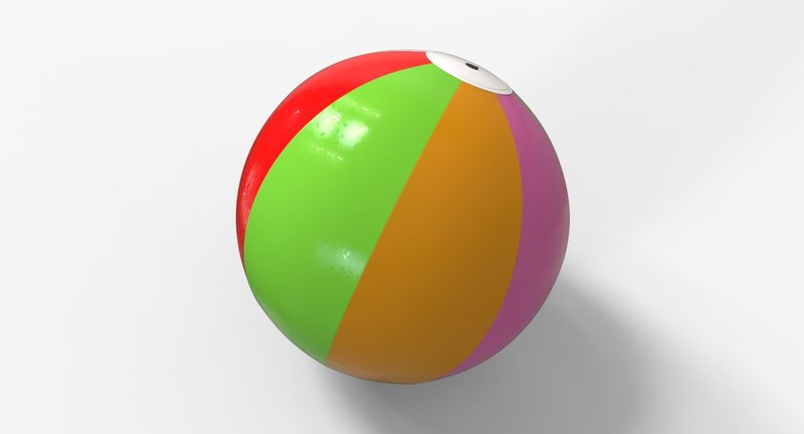 BeachBall Colors royalty-free 3d model - Preview no. 3