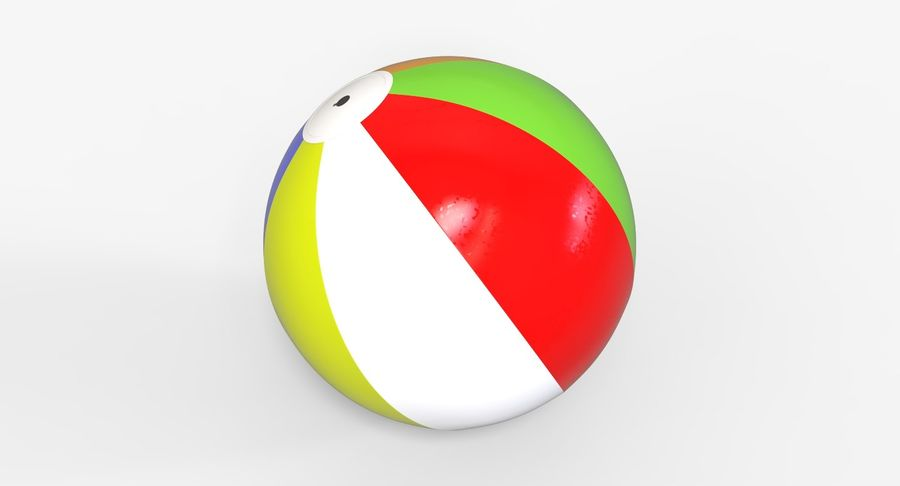 BeachBall Colors royalty-free 3d model - Preview no. 4