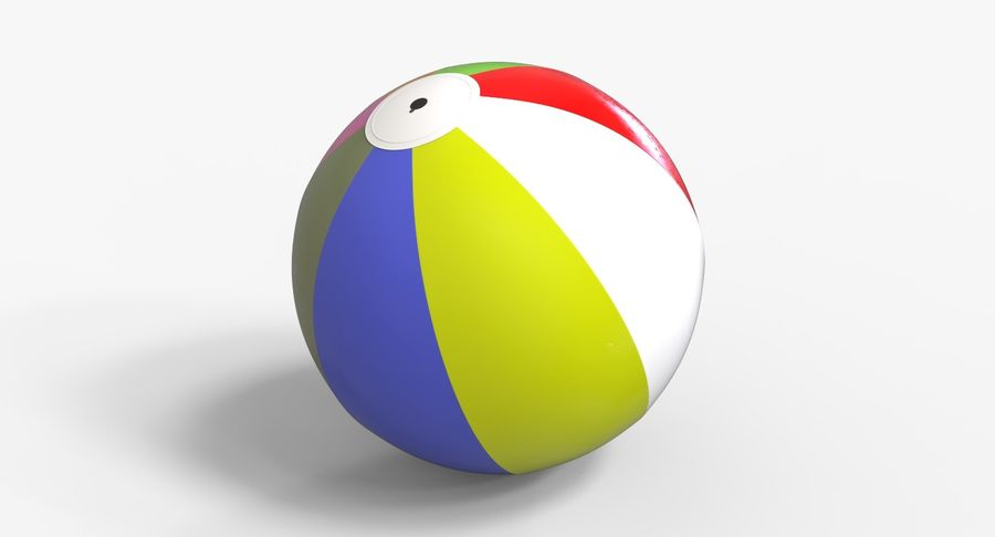 BeachBall Colors royalty-free 3d model - Preview no. 5