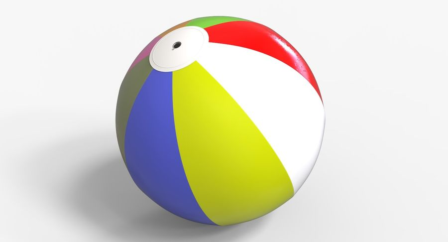 BeachBall Colors royalty-free 3d model - Preview no. 2