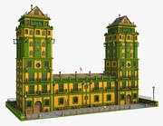 Fantasie-gelbe Türme 3d model