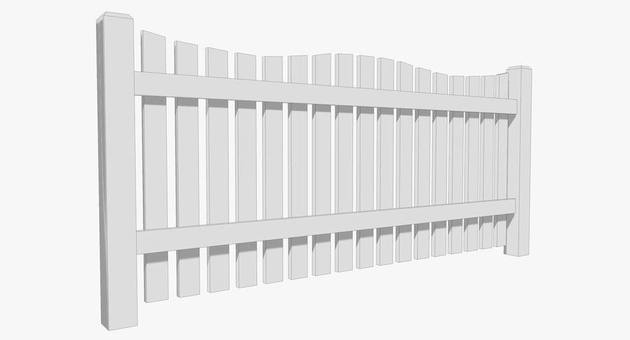 Drewniany płot royalty-free 3d model - Preview no. 7