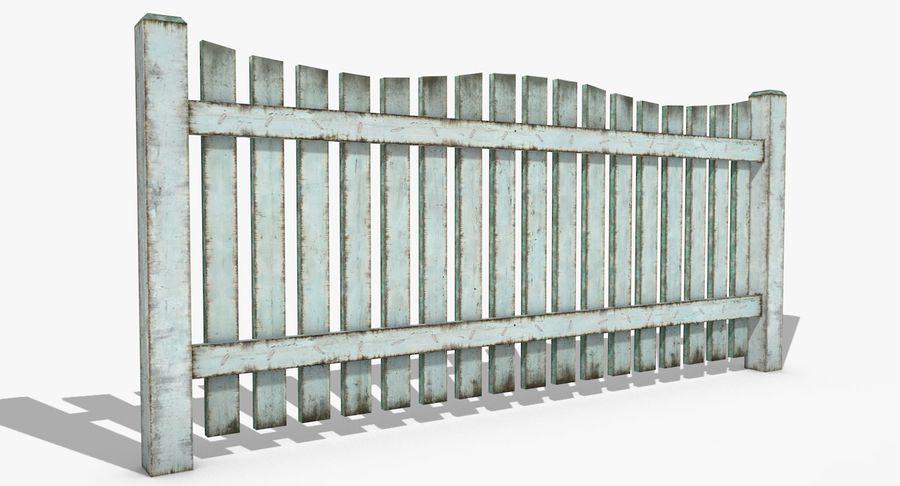 Drewniany płot royalty-free 3d model - Preview no. 4